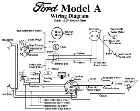 electrical - model a garage, inc. 1929 chrysler model wiring diagram 1929 ford roadster wiring diagram #6