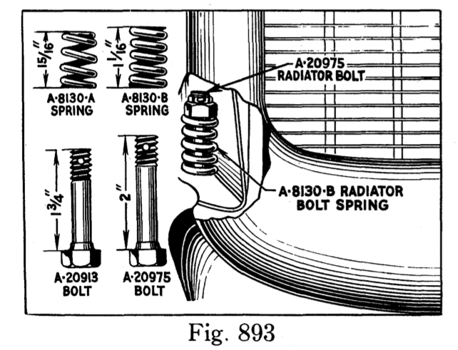 change in radiator bolt and spring